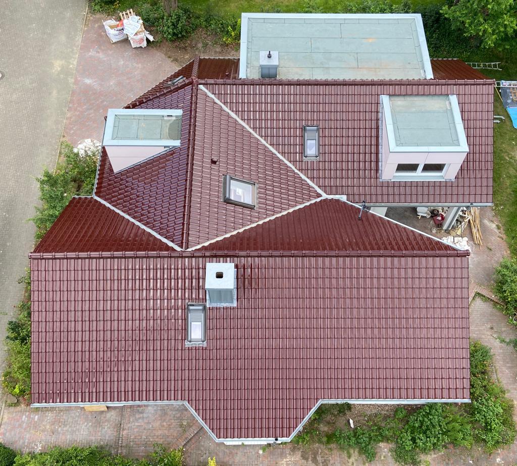 Für die Bauherren dieser Immobilie wurde eine energetische Steildachsnaierung ausgeführt.